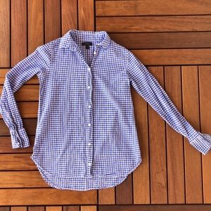 J. Crew Gingham Button Down 00
